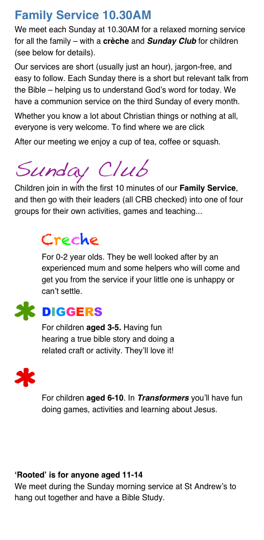 Family Service 10.30AM 